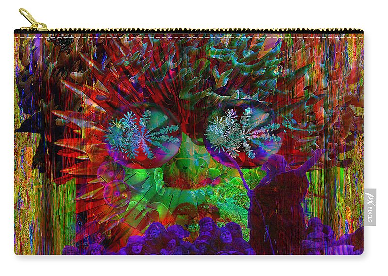 Electromagnetic Spectrum Carry-all Pouch featuring the digital art Chaos by Joseph Mosley
