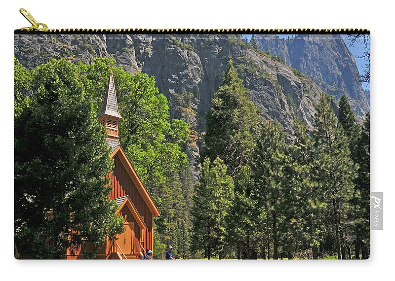 Church Carry-all Pouch featuring the photograph Chapel In The Valley by Lynn Bauer
