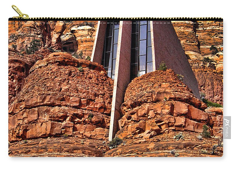 Sedona Arizona Carry-all Pouch featuring the photograph Chapel Of The Holy Cross Sedona Arizona by Jon Berghoff