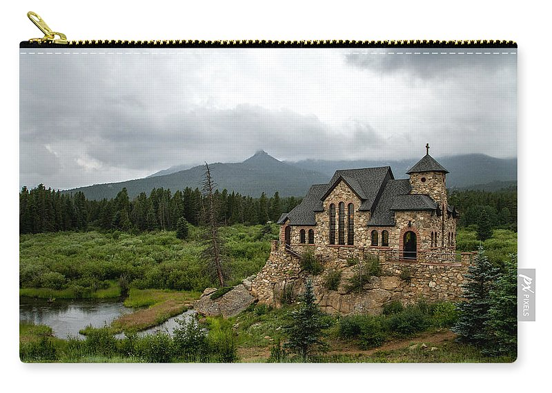 Chapel On The Rock Carry-all Pouch featuring the photograph Chapel On The Rock by Jeff Stoddart