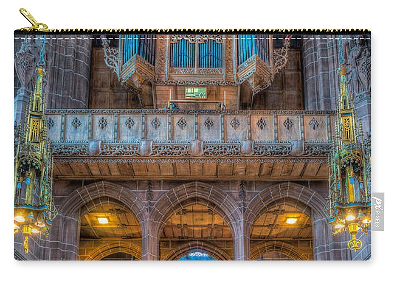 Aisle Carry-all Pouch featuring the photograph Chapel Organ by Adrian Evans