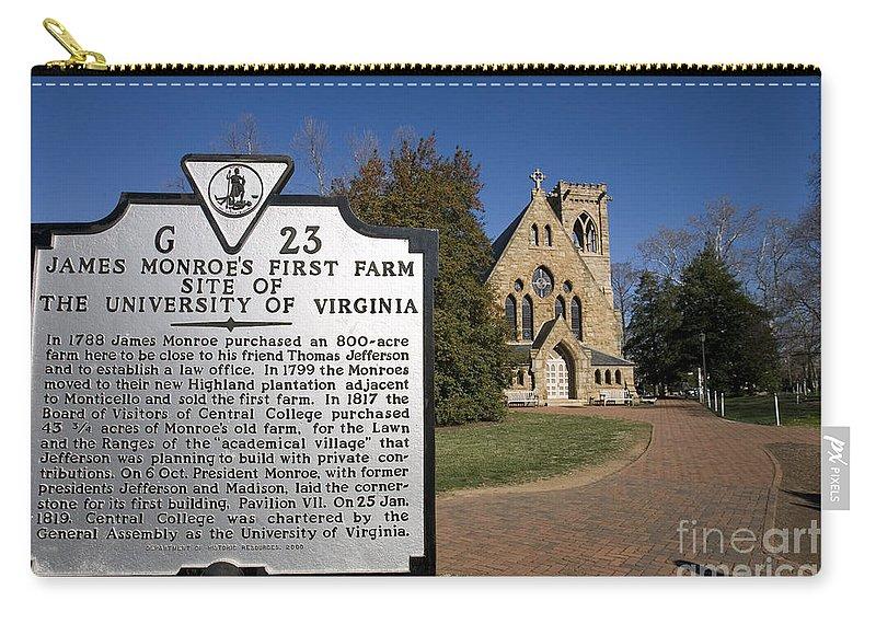 University Of Virginia Carry-all Pouch featuring the photograph Chapel University Of Virginia by Jason O Watson