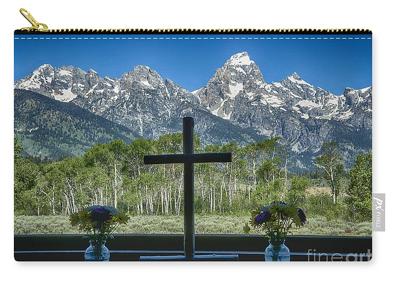 Church Carry-all Pouch featuring the photograph Chapel View by Claudia Kuhn