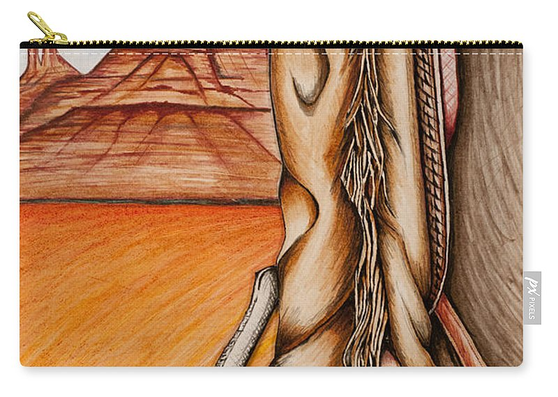Desert Carry-all Pouch featuring the mixed media Chaps by Kem Himelright