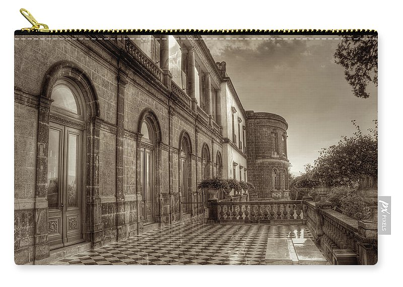 Chapultepec Carry-all Pouch featuring the photograph Chapultepec Castle by Genaro Rojas