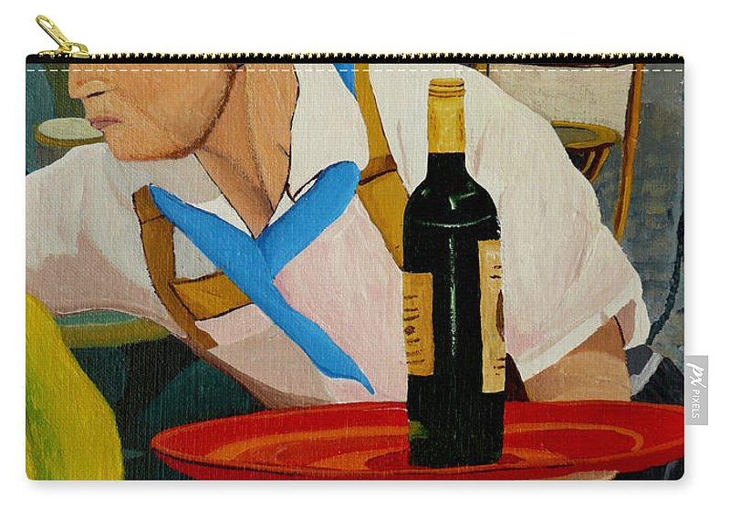 France Carry-all Pouch featuring the painting Chardonnay by Anthony Dunphy