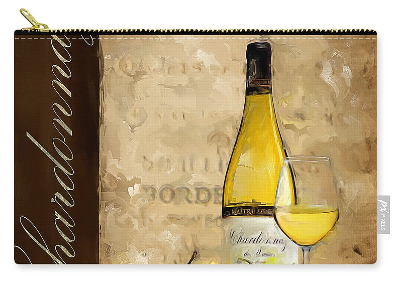 Wine Carry-all Pouch featuring the painting Chardonnay IIi by Lourry Legarde