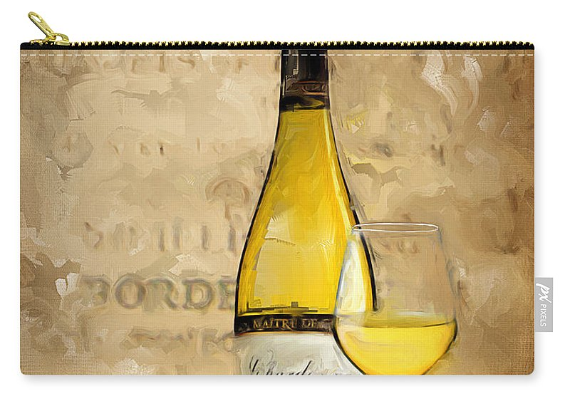 Wine Carry-all Pouch featuring the painting Chardonnay Iv by Lourry Legarde