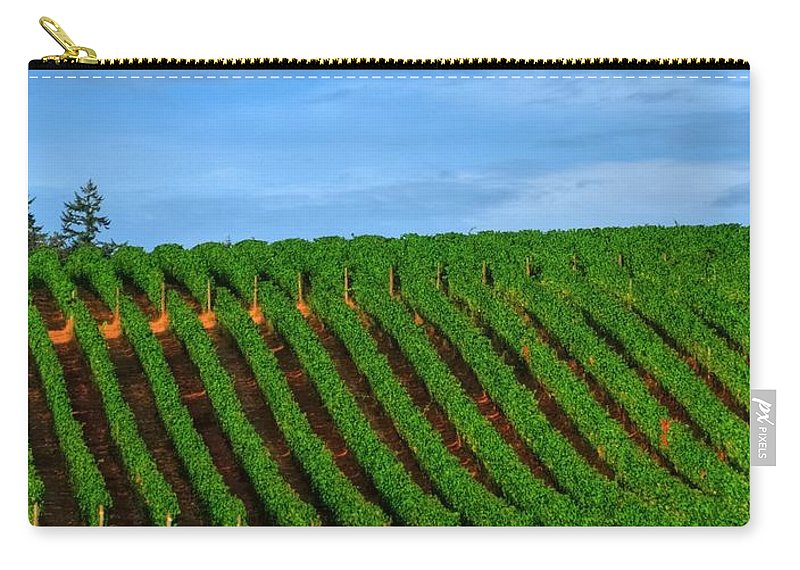 Hdr Carry-all Pouch featuring the photograph Chardonnay Sky 17990 by Jerry Sodorff