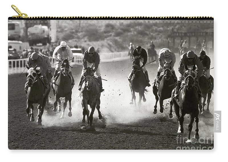 Horses Carry-all Pouch featuring the photograph Charge by Kathy McClure