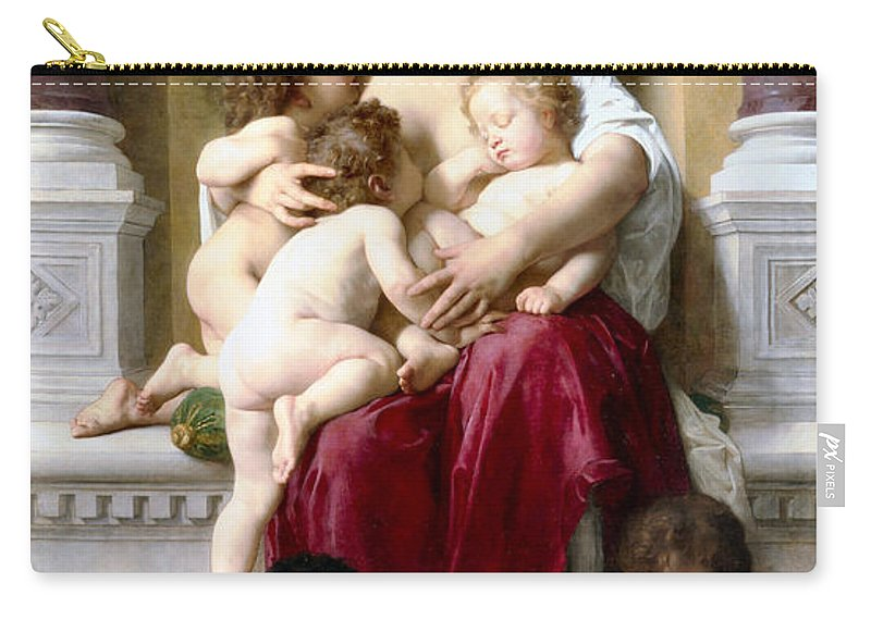 Charity Carry-all Pouch featuring the digital art Charity by William Bouguereau