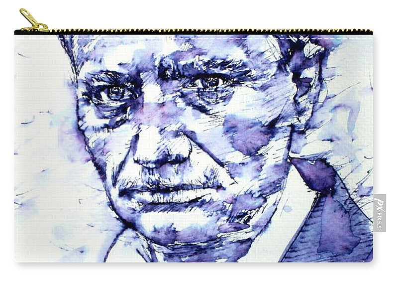 Baudelaire Carry-all Pouch featuring the painting Charles Baudelaire Portrait by Fabrizio Cassetta