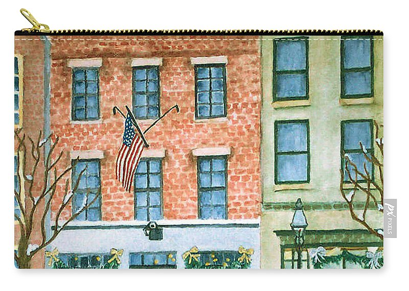 Charles Street Hardware Carry-all Pouch featuring the painting Charles Street Hardware by Rhonda Leonard