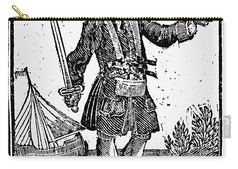 1725 Carry-all Pouch featuring the painting Charles Vane (c1680-1720) by Granger
