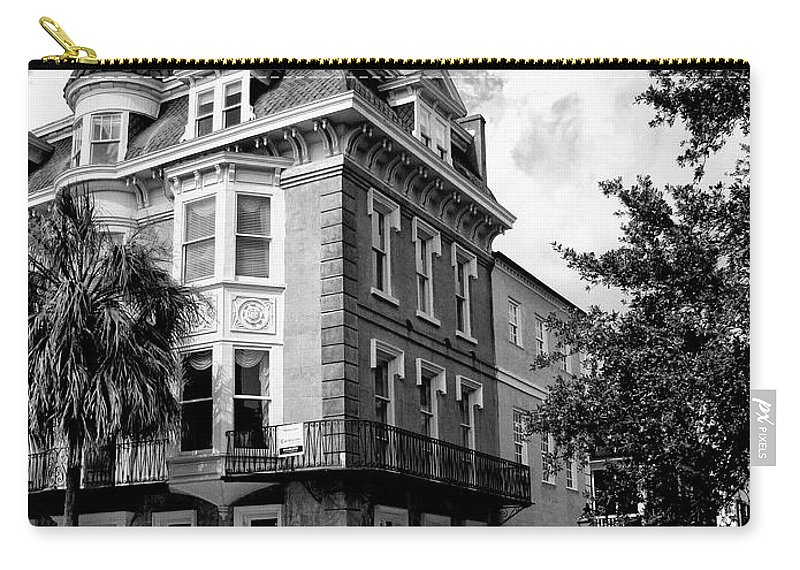 Charleston Carry-all Pouch featuring the photograph Charleston Corner Charleston Sc by William Dey