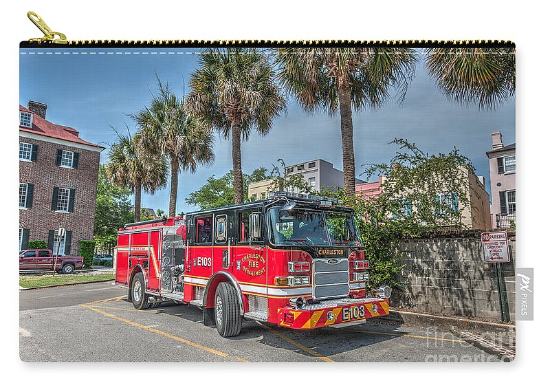 E103 Carry-all Pouch featuring the photograph Charleston Fire Dept by Dale Powell