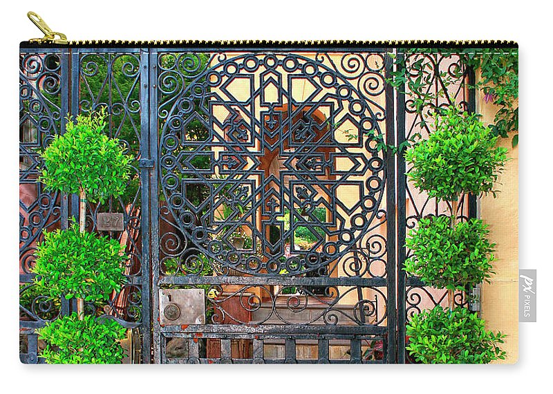 Charleston Carry-all Pouch featuring the photograph Charleston Gate Charleston Sc by William Dey