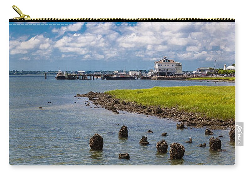 Landscape Carry-all Pouch featuring the photograph Charleston Harbor by Sennie Pierson