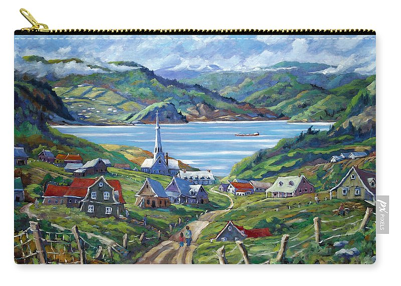 Carry-all Pouch featuring the painting Charlevoix Scene by Richard T Pranke