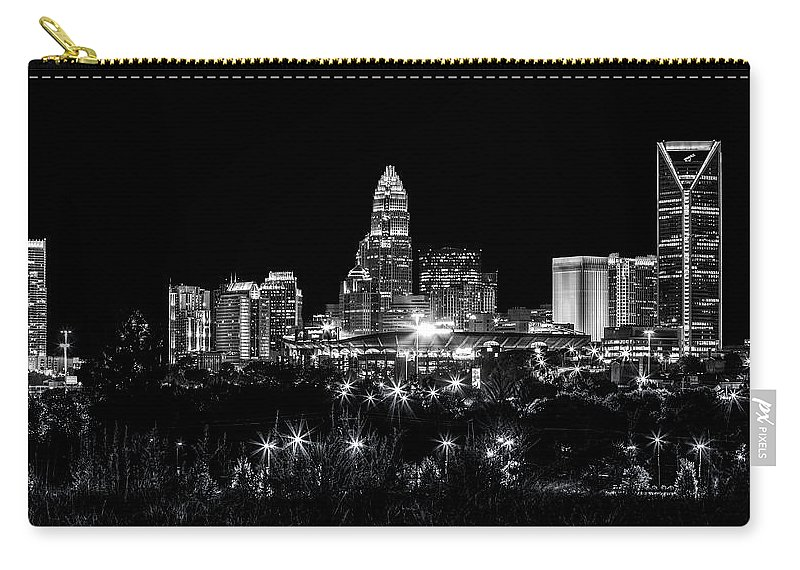 Charlotte Carry-all Pouch featuring the photograph Charlotte Night by Chris Austin