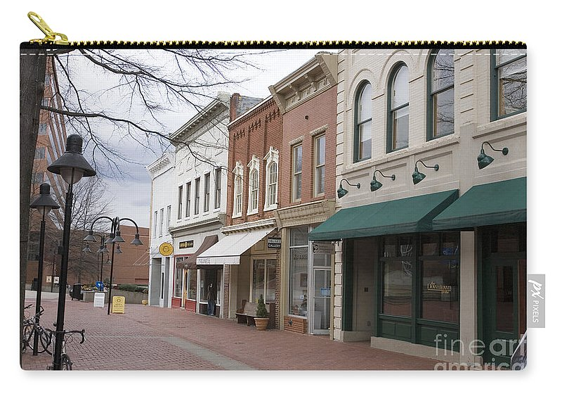 Charlottesville Carry-all Pouch featuring the photograph Charlottesville Virginia Downtown Mall by Jason O Watson