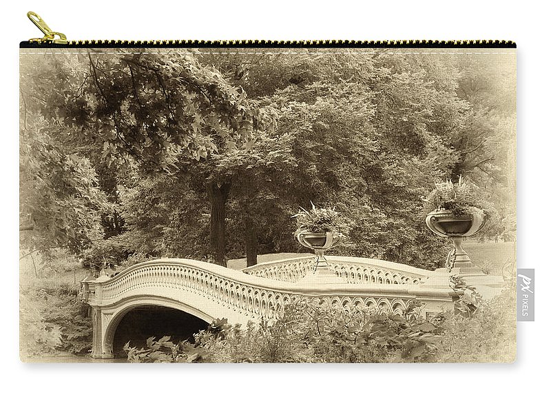 Bridge Carry-all Pouch featuring the photograph Charm Of Bow Bridge by Jessica Jenney