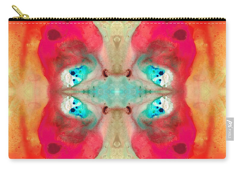 Pink Carry-all Pouch featuring the painting Charmed - Abstract Art By Sharon Cummings by Sharon Cummings