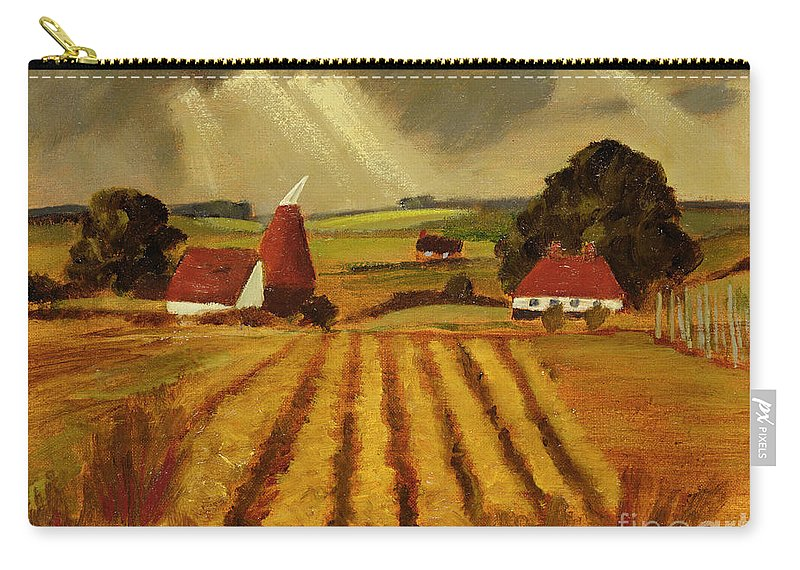 Landscape Carry-all Pouch featuring the painting Chart Sutton by Eric Hains