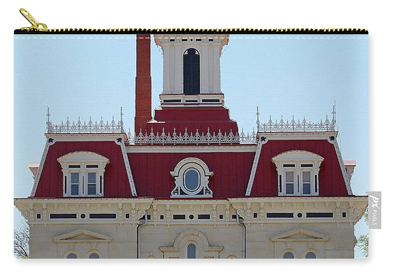 Chase County Carry-all Pouch featuring the photograph Chase County Courthouse In Kansas by Catherine Sherman