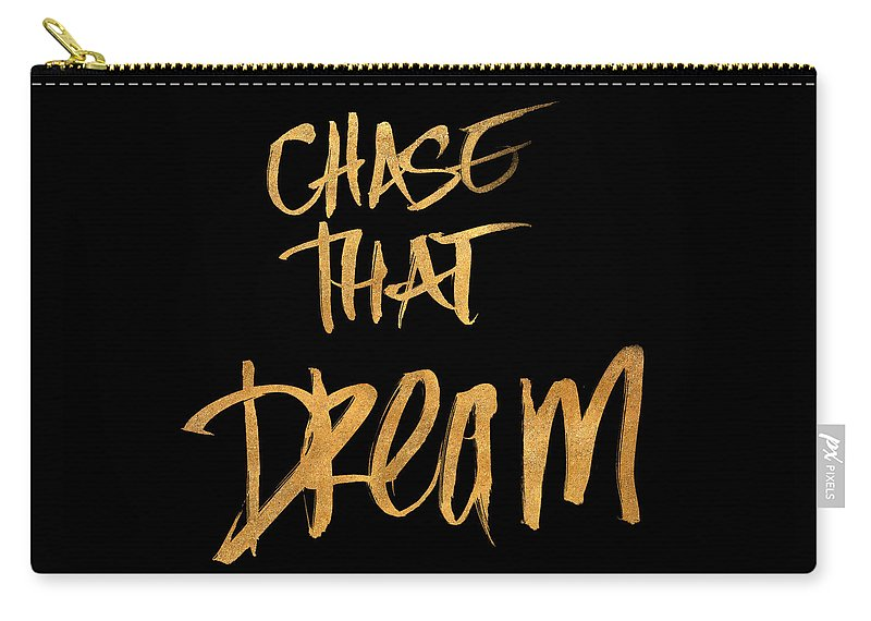 Chase Carry-all Pouch featuring the digital art Chase That Dream by South Social Studio