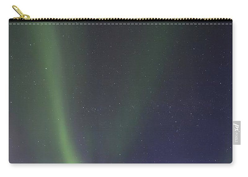 Northern Lights Carry-all Pouch featuring the photograph Chasing Lights by Priska Wettstein