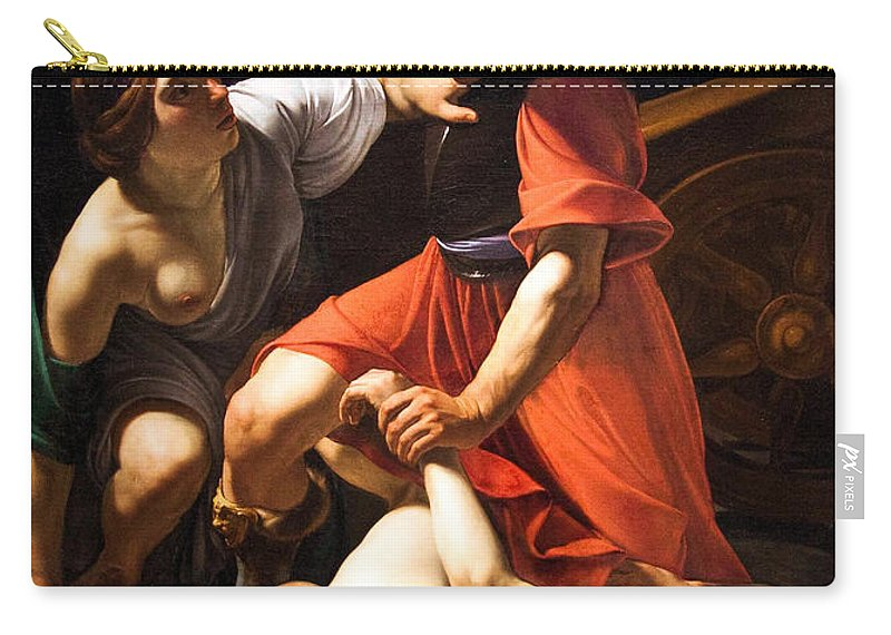 Chastisement Of Cupid Carry-all Pouch featuring the painting Chastisement Of Cupid by Bartolomeo Manfredi