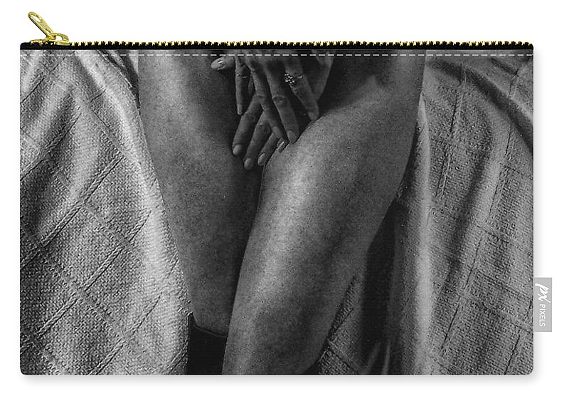 Woman Carry-all Pouch featuring the photograph Chastity Belt by Donna Blackhall