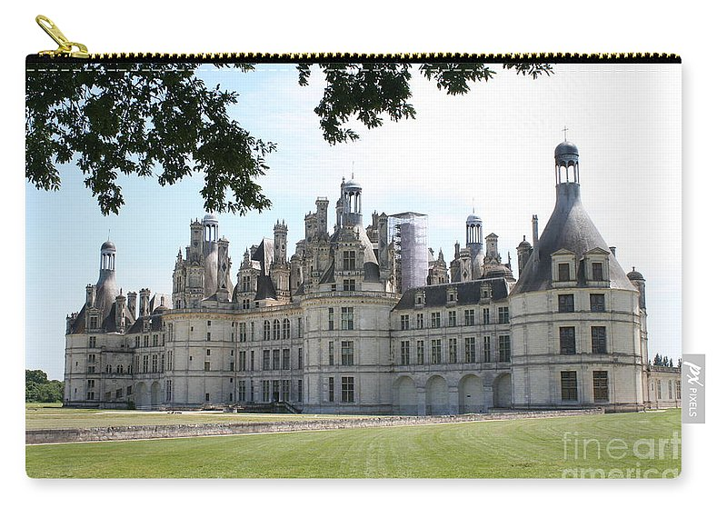 Palace Carry-all Pouch featuring the photograph Chateau Chambord - France by Christiane Schulze Art And Photography
