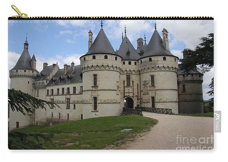 Palace Carry-all Pouch featuring the photograph Chateau Chaumont Steeples by Christiane Schulze Art And Photography