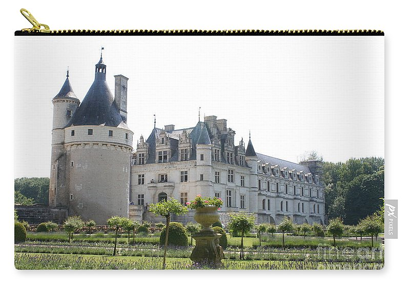 Castle Carry-all Pouch featuring the photograph Chateau Chenonceau And Garden by Christiane Schulze Art And Photography