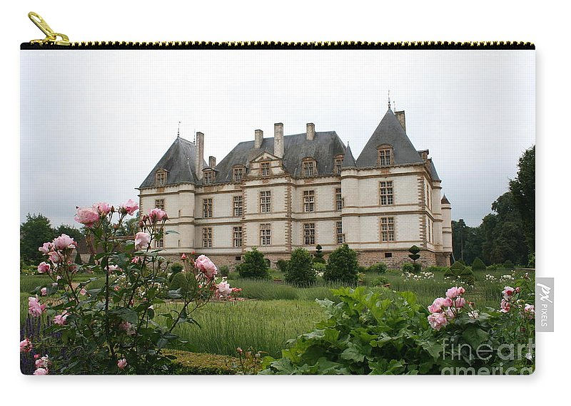 Palace Carry-all Pouch featuring the photograph Chateau De Cormatin Garden by Christiane Schulze Art And Photography