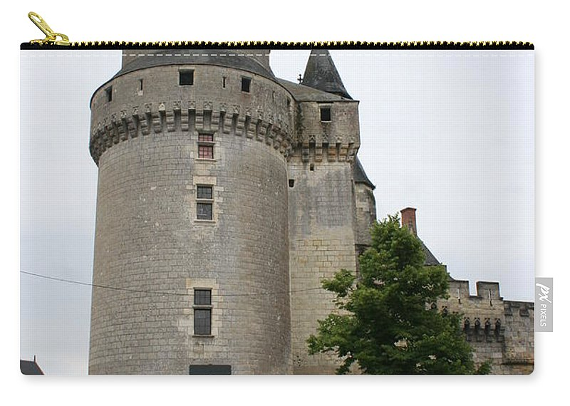 Castle Carry-all Pouch featuring the photograph Chateau De Langeais Tower by Christiane Schulze Art And Photography