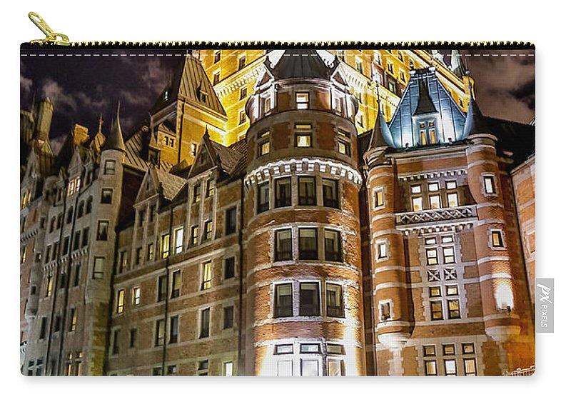 Chateau Frontenac Carry-all Pouch featuring the photograph Chateau Frontenac by Bill Lindsay