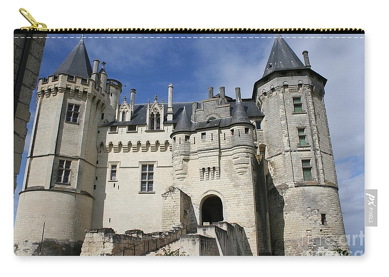 Castle Carry-all Pouch featuring the photograph Chateau Saumur by Christiane Schulze Art And Photography