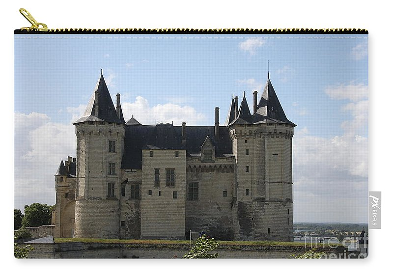 Castle Carry-all Pouch featuring the photograph Chateau Saumur - France by Christiane Schulze Art And Photography