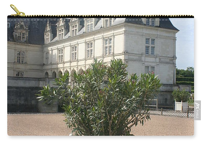Palace Carry-all Pouch featuring the photograph Chateau Villandry View by Christiane Schulze Art And Photography