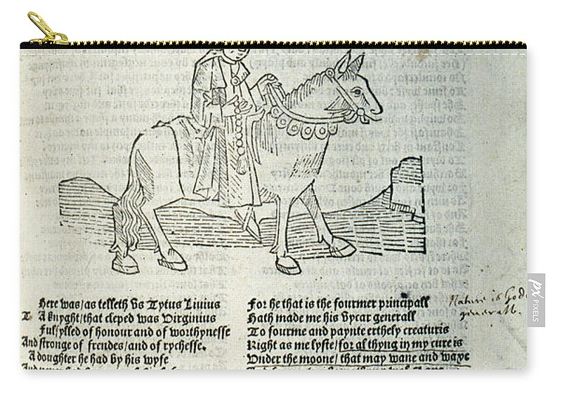 1532 Carry-all Pouch featuring the photograph Chaucer: Prologue by Granger