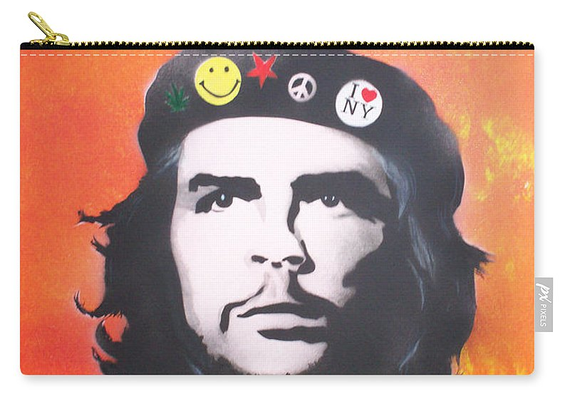 Che Carry-all Pouch featuring the painting Che by Gary Hogben
