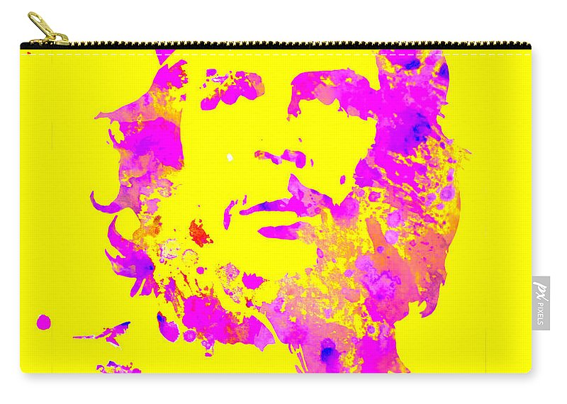 Che Carry-all Pouch featuring the digital art Che Guevara 2a by Brian Reaves