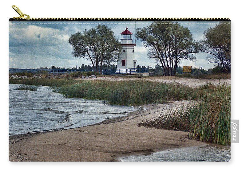 Cheboygan Carry-all Pouch featuring the photograph Cheboygan Crib Lighthouse #18 by Crystal Nederman