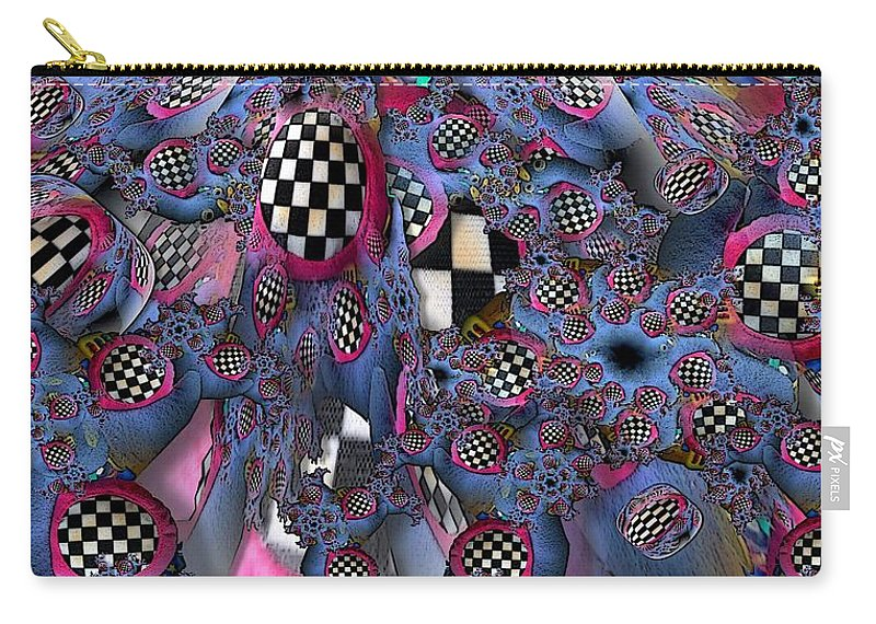 Collage Carry-all Pouch featuring the digital art Checker by Ron Bissett