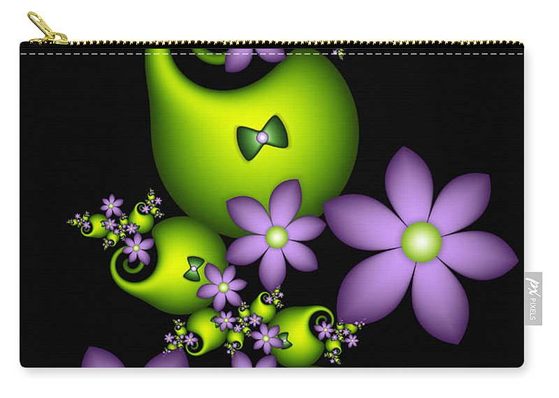 Fractal Carry-all Pouch featuring the digital art Cheerful by Gabiw Art