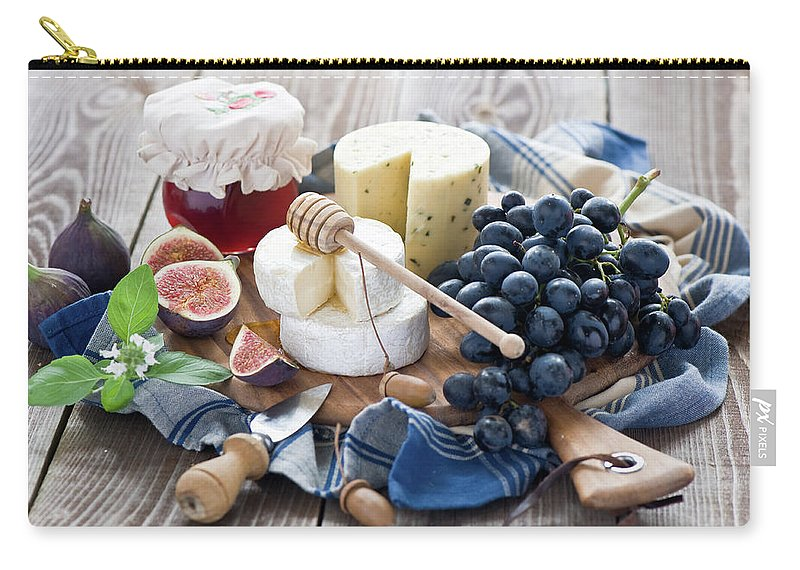 Plum Carry-all Pouch featuring the photograph Cheese Board by Verdina Anna