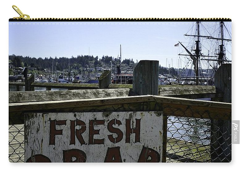 Newport Carry-all Pouch featuring the photograph Chelsea Rose Crab by Image Takers Photography LLC - Carol Haddon